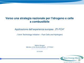 Verso una strategia nazionale per l'idrogeno e celle a combustibile