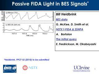 Passive FIDA Light in BES Signals *