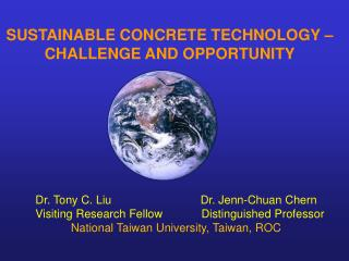 SUSTAINABLE CONCRETE TECHNOLOGY   CHALLENGE AND OPPORTUNITY
