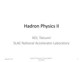 Hadron Physics II