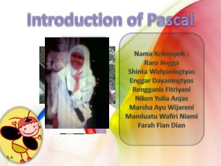Introduction of Pascal