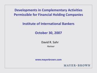 David R. Sahr Partner
