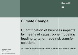 (Nat Cat) Risk Management