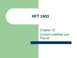HFT 2403