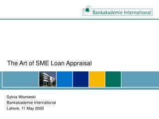 The Art of SME Loan Appraisal