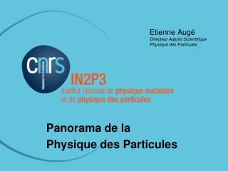 Etienne Augé Directeur Adjoint Scientifique Physique des Particules