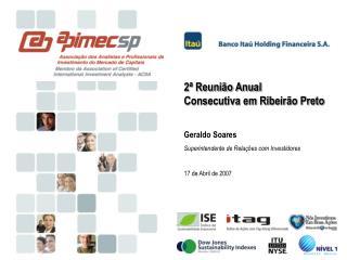 2ª Reunião Anual  Consecutiva em Ribeirão Preto Geraldo Soares