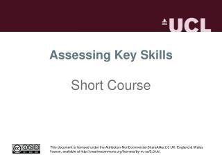 Assessing Key Skills