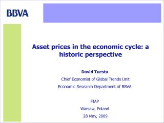 David Tuesta  Chief Economist of Global Trends Unit Economic Research Department of BBVA FIAP