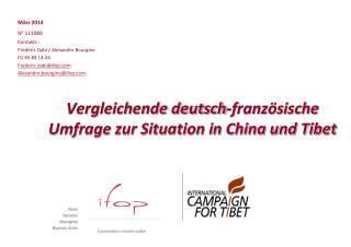 Vergleichende deutsch-französische Umfrage zur Situation in China und Tibet