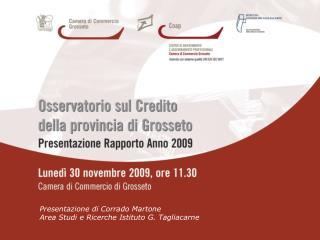 Presentazione di Corrado Martone   Area Studi e Ricerche Istituto G. Tagliacarne