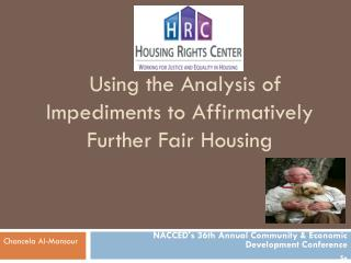 Using the Analysis of Impediments to Affirmatively Further Fair Housing