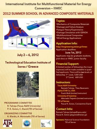 International Institute for Multifunctional Material for Energy Conversion – IIMEC