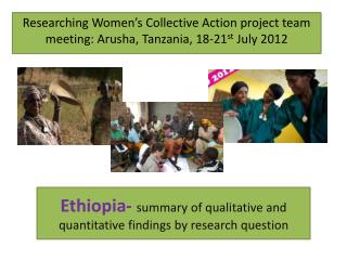 Ethiopia- summary of qualitative and quantitative findings by research question