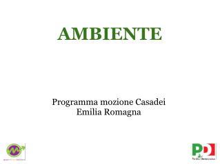 Programma mozione Casadei  Emilia Romagna