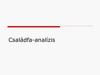 Családfa-analízis