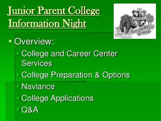 Junior Parent College Information Night