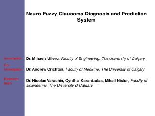 Neuro-Fuzzy Glaucoma Diagnosis and Prediction System