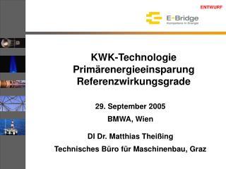KWK-Technologie Primärenergieeinsparung Referenzwirkungsgrade