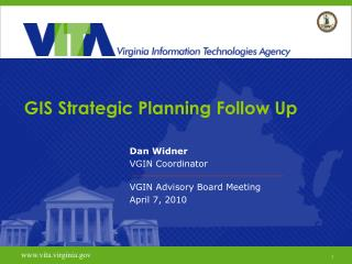 GIS Strategic Planning Follow Up