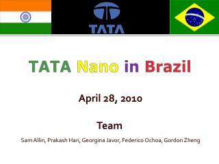 TATA Nano in  Brazil