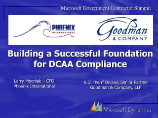 Building a Successful Foundation for DCAA Compliance