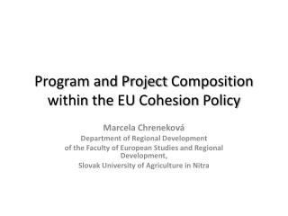 Program and Project  Composition within the  EU  Cohesion Policy
