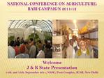 National Conference on Agriculture: Rabi Campaign 2011-12