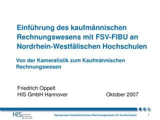 Einführung des kaufmännischen Rechnungswesens mit FSV-FIBU an Nordrhein-Westfälischen Hochschulen