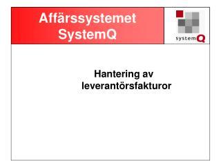 Affärssystemet SystemQ
