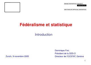 Fédéralisme et statistique