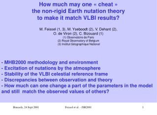 How much may one « cheat »  the non-rigid Earth nutation theory to make it match VLBI results?