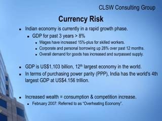 Currency Risk