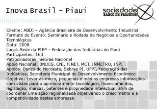 Inova Brasil - Piauí