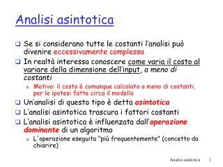 Analisi asintotica