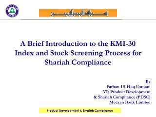 A Brief Introduction to the KMI-30 Index and Stock Screening Process for Shariah Compliance