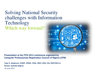 Cyber Security  in the 21st Century Building a National Cyber Defense Capability