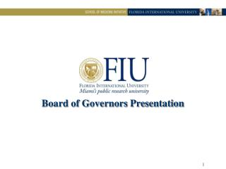 Board of Governors Presentation