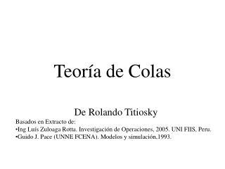 Teoría de Colas