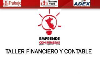 TALLER FINANCIERO Y CONTABLE