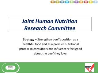Joint Human Nutrition  Research Committee