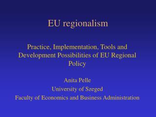 EU regionalism
