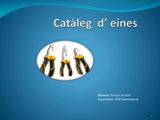 Catàleg d' eines