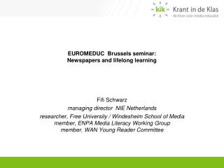EUROMEDUC  Brussels seminar: Newspapers and lifelong learning
