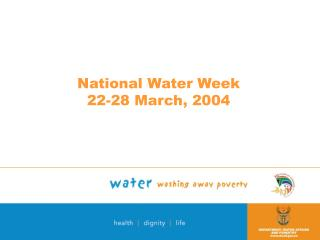 National Water Week  22-28 March, 2004