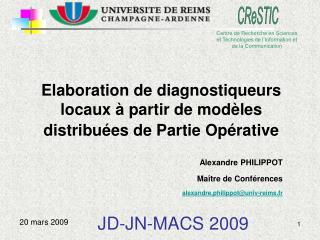 Elaboration de diagnostiqueurs locaux à partir de modèles distribuées de Partie Opérative