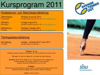 Klubbdomar- och Matchledarutbildning NorrköpingSöndag 16 januari 2011