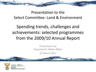 Spending trends, challenges and achievements: selected programmes from the 2009/10 Annual Report