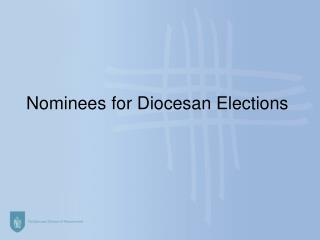 Nominees for Diocesan Elections