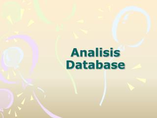 Analisis Database